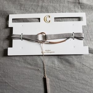 Charming charlies grey choker